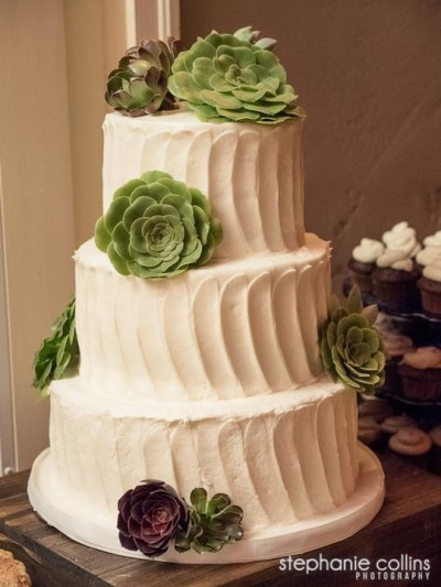 Succulents Wedding Cake