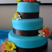 Teal & Brown Beach Wedding