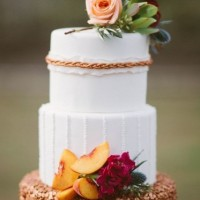 Bronze Wedding Cake Photo 3