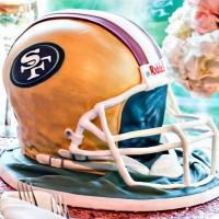 49's Helmet Grooms Cake