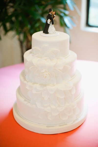 Petals Wedding Cake