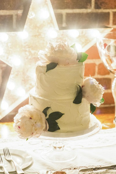 Peonies Wedding Cake