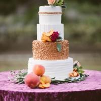Bronze Wedding Cake