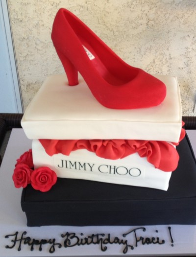 Jimmy Choo Birthday Cake