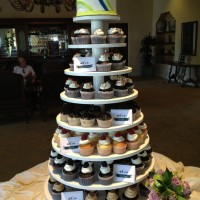 Spanish Hills Cupcake Tower
