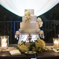 White wedding and Sun Devils Grooms cake