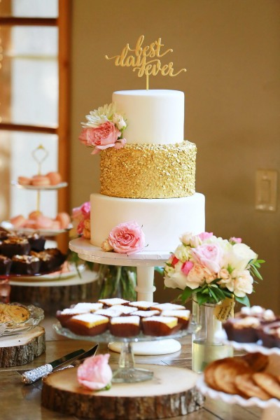 Gold Sequins Wedding