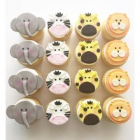 Jungle Theme Animal Cupcakes