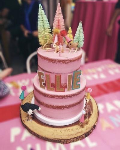 Pink Semi- Naked Cake