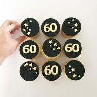 60th Birthday Cupcakes