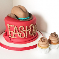 Cowboy Hat Baby Shower Cake